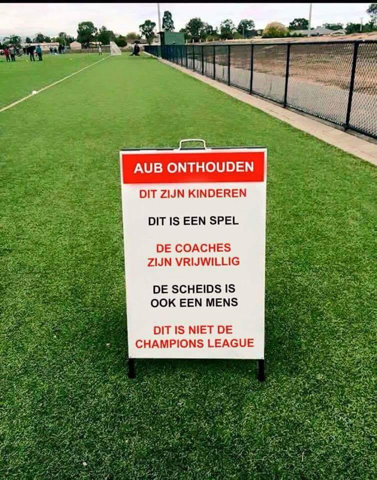 Positief voetbal klimaat