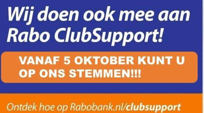 Rabobank clubsupport: stem op Sc 't Zand